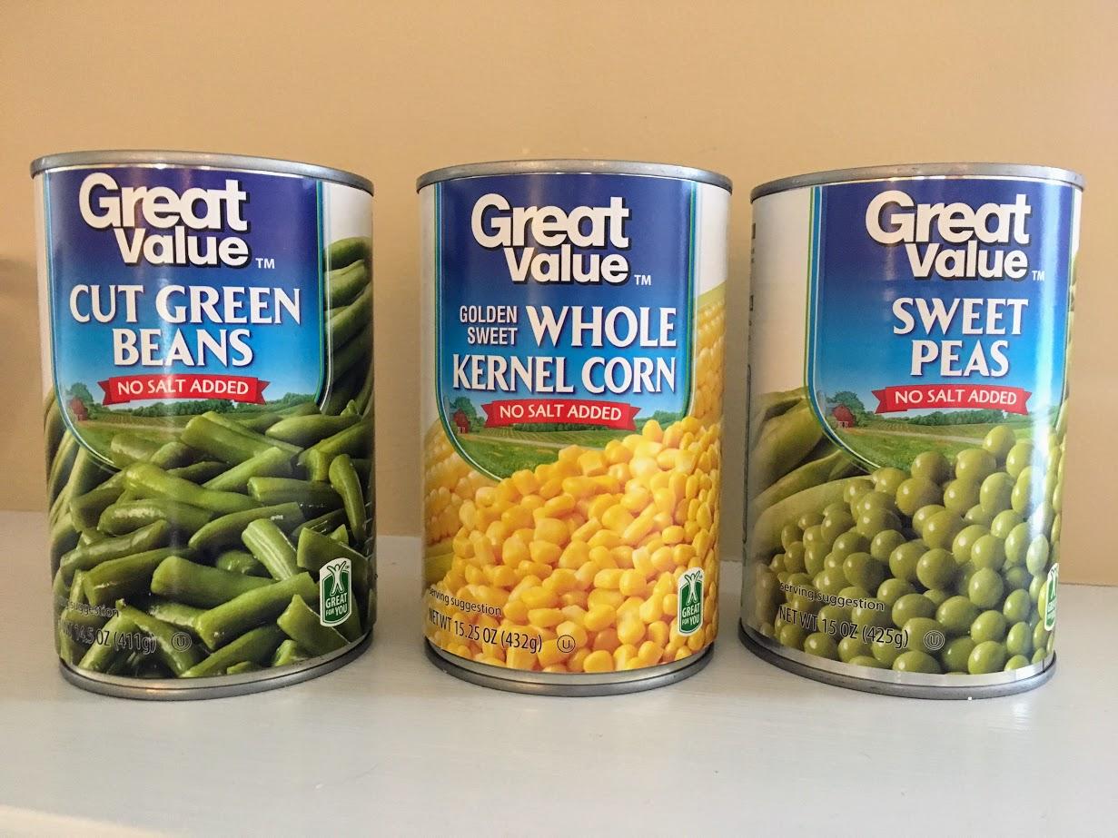 Unsalted Canned Veggies No Salt Added Veggies Great