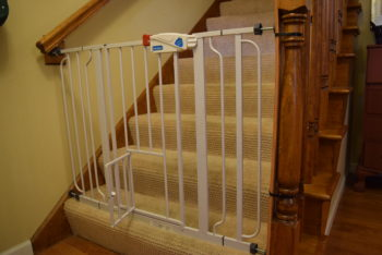 Baby Proof Stairs With Cat Gate, Baby Proof Stairs Banister, How To Baby  Proof Stairs With A ...